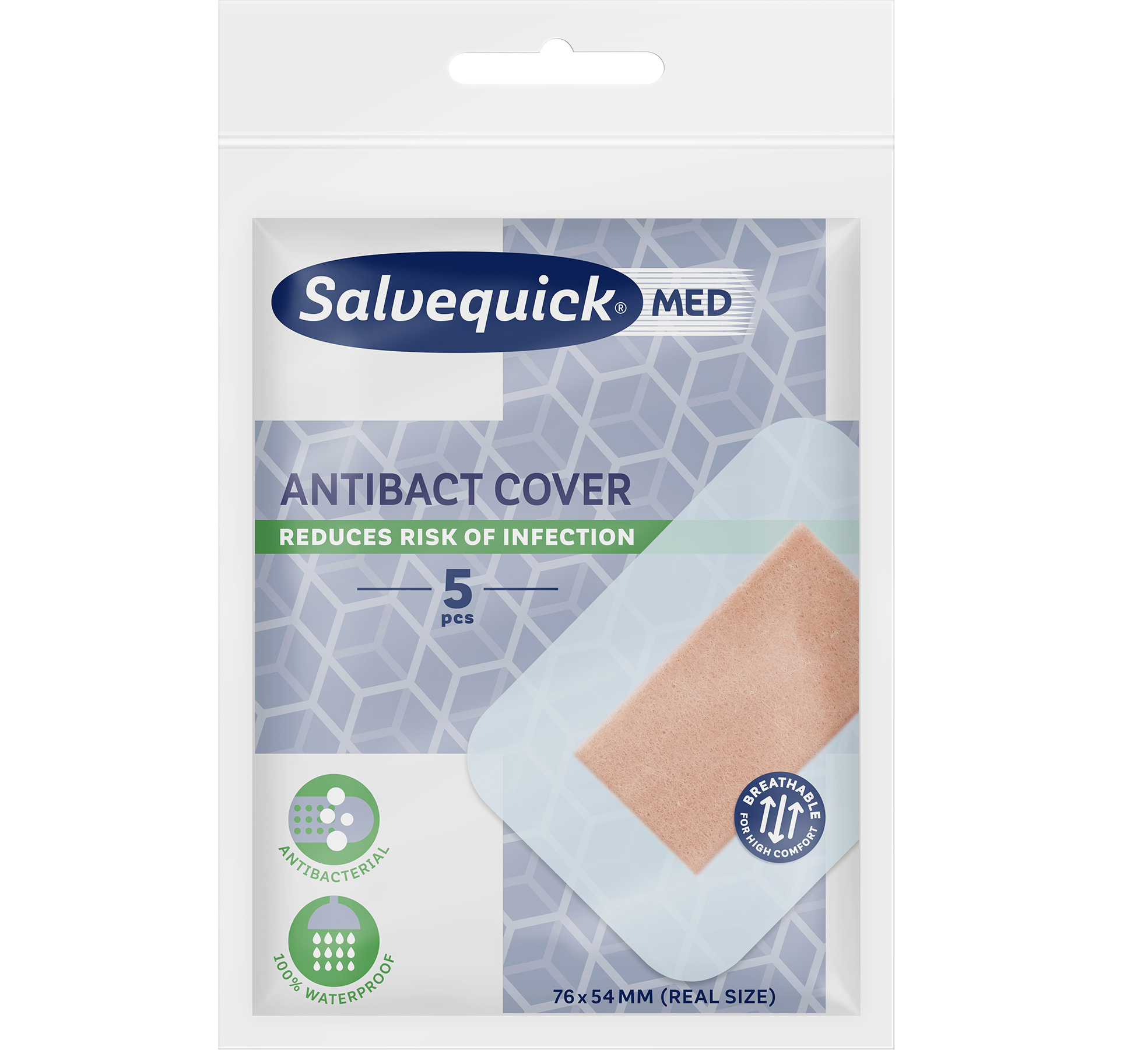 Salvequick Med Antibact Cover
