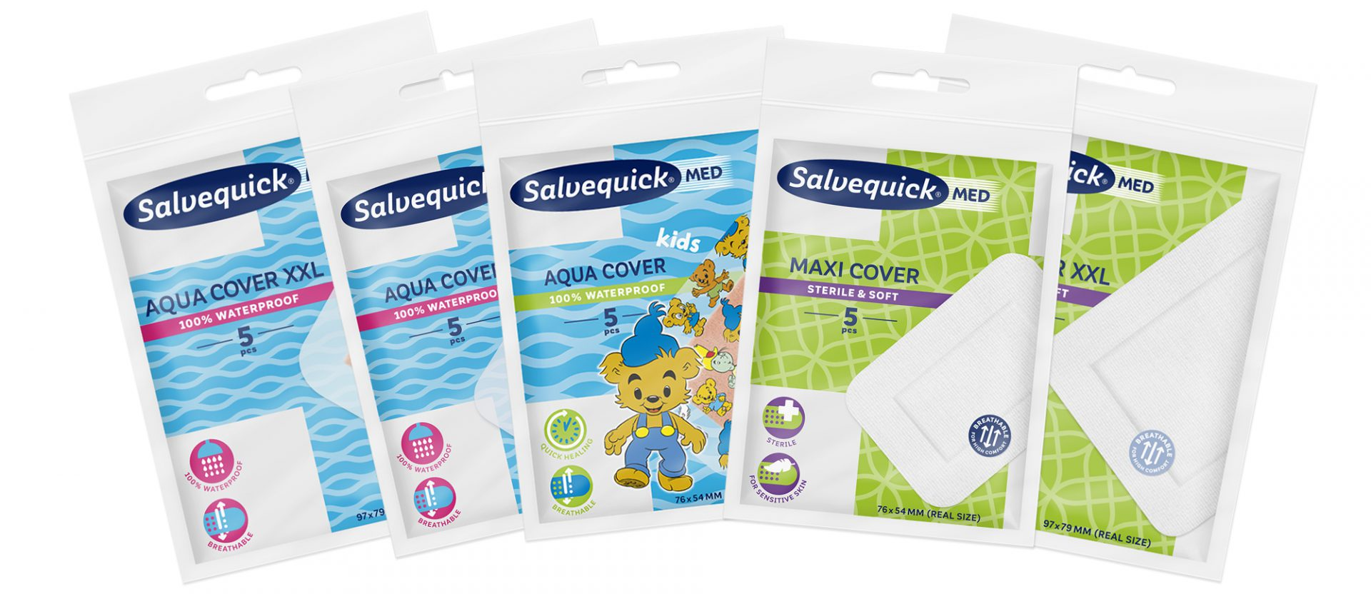 Plaster for larger wounds - Salvequick Cover